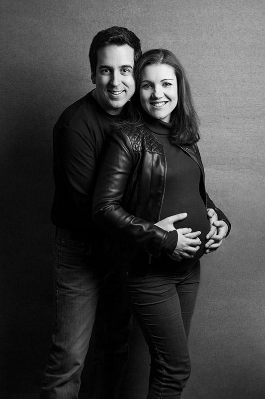 Book de embarazada en estudio en Málaga